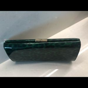 Jimmy Choo evening clutch in green patent leather
